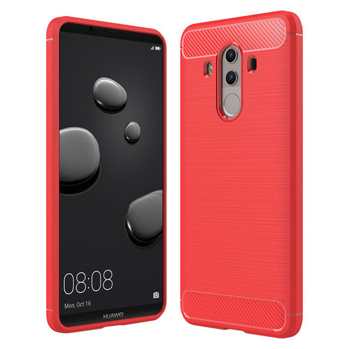 Flexi Carbon Fibre Shockproof Case for Huawei Mate 10 Pro - Red